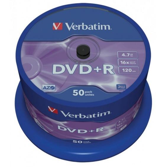 Estuche con 50 DVD+R Matt Silver 4.7GB 16x
