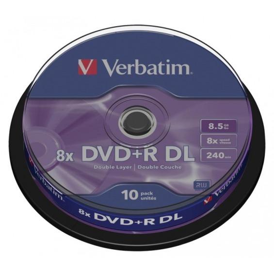 Estuche de 10 DVD+R de 8.5GB