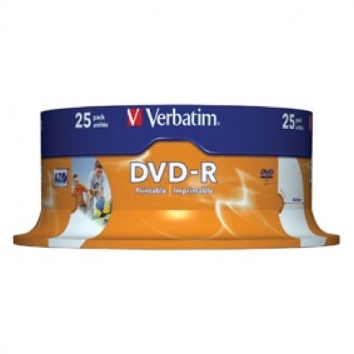 DVD-R 4.7 GB 16x Matt Silver imprimible pack de 25 uds.