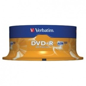 DVD-R 4.7 GB 16x Matt Silver pack de 25 uds.