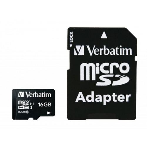 Micro SDHC 16 GB* - Clase 10 con adaptador
