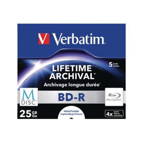 M-Disc BD-R Paquete de 5 en caja Jewel