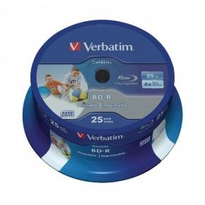 BD-R SL Datalife 25GB* 6x Wide Inkjet Printable 25 Pack Spindle