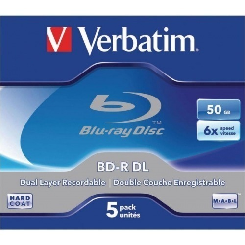 BD-R DL 50GB* 6x 5 Pack Jewel Case