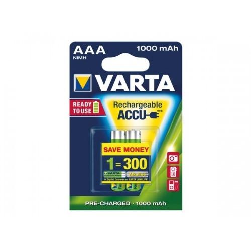 NiMH HR03 MICRO VARTA 56763.101.402 1,2 V 1000 mAh (2 uds./blister)