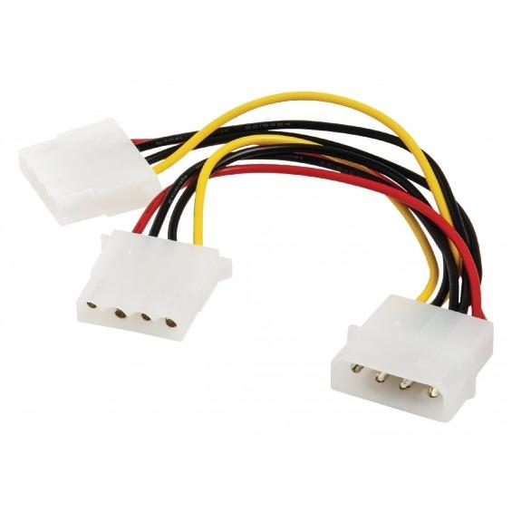 Internal power Splitter cable Molex male - 2x Molex female 0.15 m multi