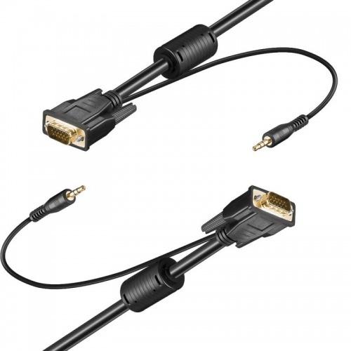 Cable VGA Macho a Macho con jack de audio 3.5 15m