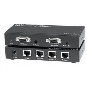 Extender VGA via UTP + Splitter 1x4 con Audio