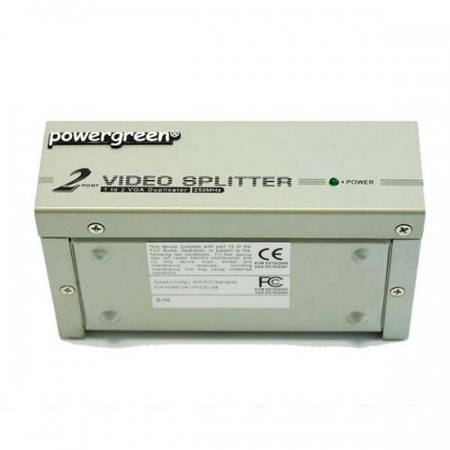 Splitter VGA 2 puertos 250MHz (2xVGA hembra x 1 hembra)