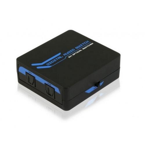 Conmutador Toslinkpara cables de audio de fibra óptica 2x1