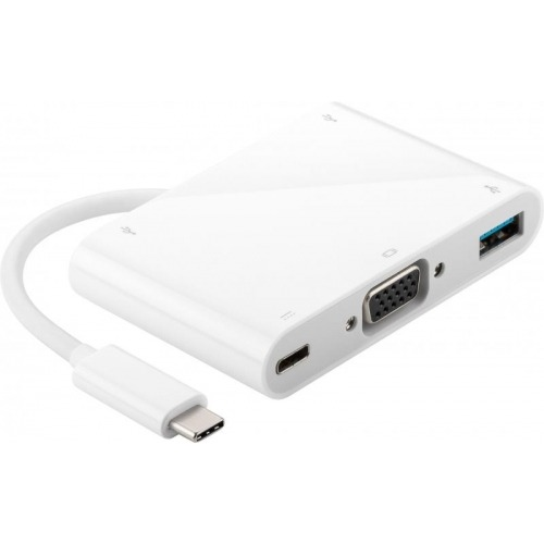 Conversor compacto USB 3.1 A VGA+USB 3.0+USB 3.1