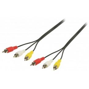 Cable Audio-Video (3xRCA-M/M) 20m