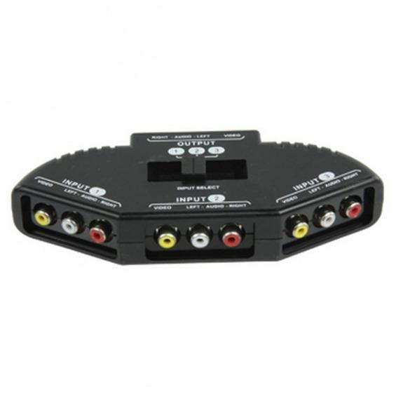 Selector compacto AV de 3 vías