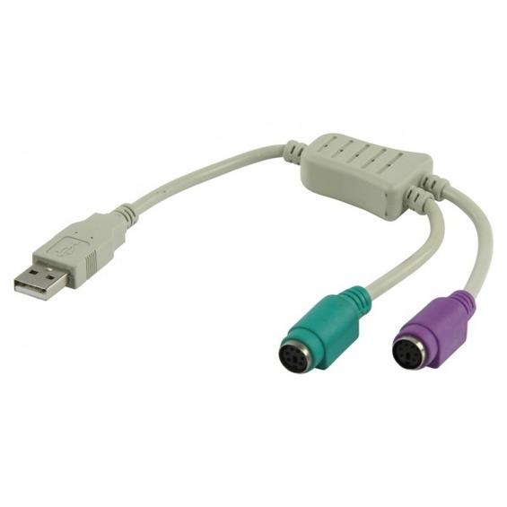 Adptador teclados PS/2 y ratones PS/2 a un USB.