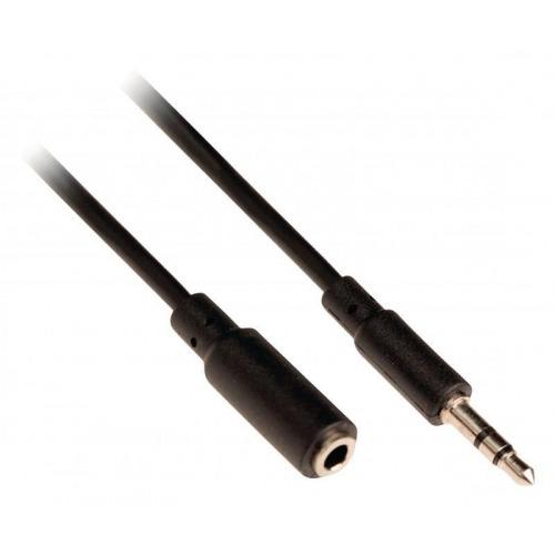 Cable de audio estéreo jack 3.5mm - jack hembra 3.5 mm 10m