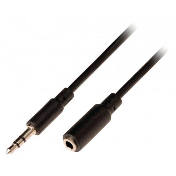 Cable de audio estéreo jack 3.5mm - jack hembra 3.5 mm de 5 m
