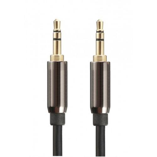 Cable de audio estéreo jack 3.5mm macho a macho de 1m apantallado