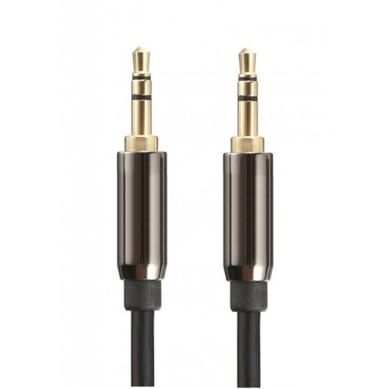 Cable de audio estéreo jack 3.5mm macho a macho de 0.50m apantallado