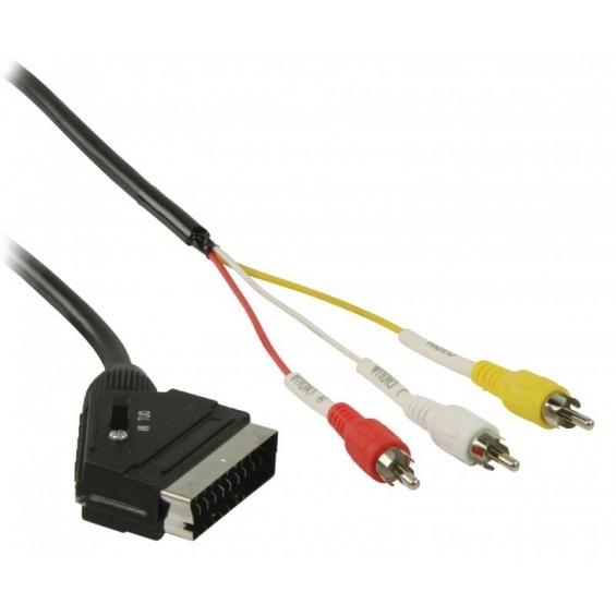 Cable Euroconector a 3 x RCA 3 m.