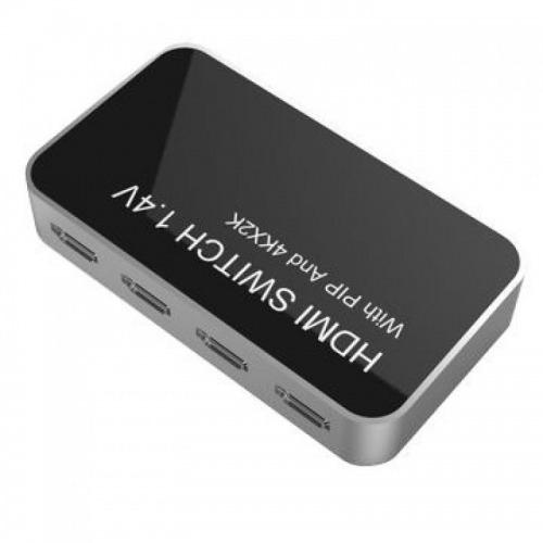Conmutador HDMI de 4 entradas a 1 salida 4K con función PIP