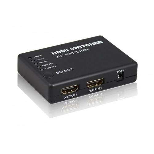 Conmutador 3 x 2 Splitter HDMI