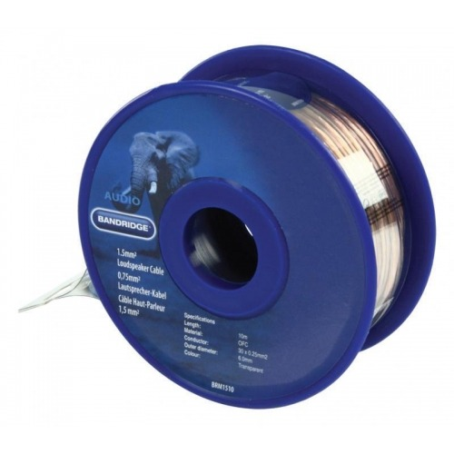 Cable de altavoz de 1,5 mm², 10,0 m transparente