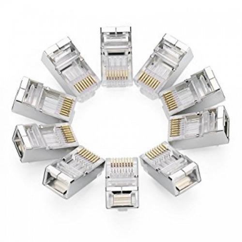 10 Conectores RJ45 para cables FTP CAT6
