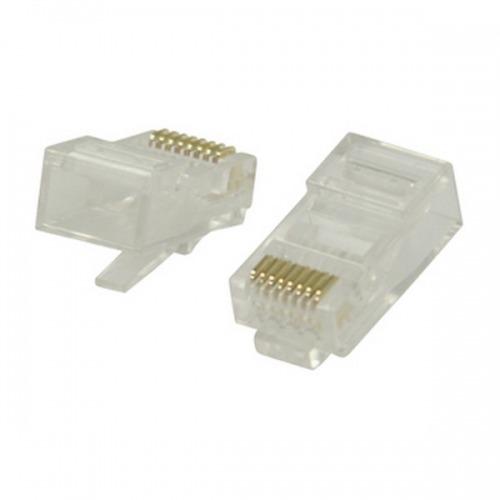 100 Conectores RJ45 para cables UTP CAT6
