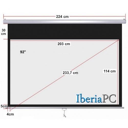 Pantalla proyector manual 92 de 2030 x 1140 mm formato 16:9