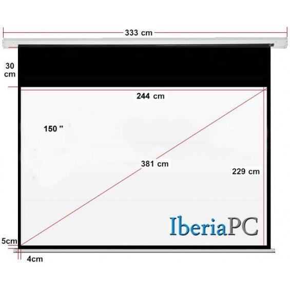 Pantalla proyector eléctrica 150 de 2440 x 2290 mm formato 4:3