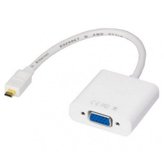 Conversor de microHDMI a VGA con audio alimentado