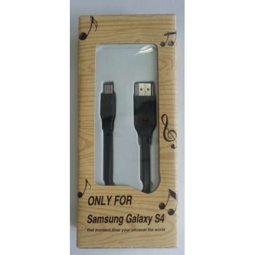 Cable MHL de 3m plano sin alimentacion para Samsung S4