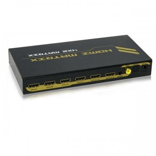 MatrizHDMI4x2 y Salida de Audio (Stereo, Toslink y Coaxial)