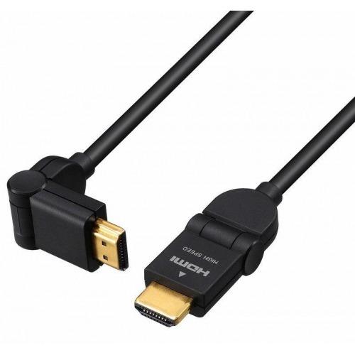 Cable HDMI macho a macho con conectores rotor 180º de 1 m