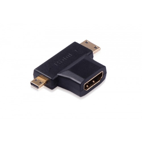 Adaptador Hdmi H a mini & micro HDMI macho
