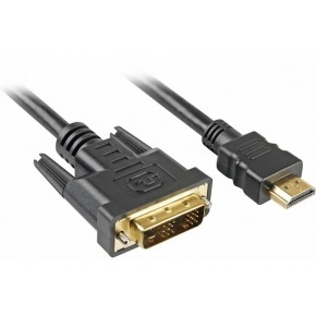 Cable HDMI a DVI 18+1 pins Conectores dorados 30AWG 5m