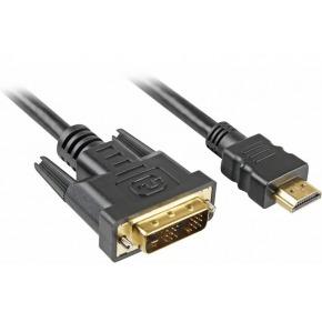 Cable HDMI a DVI 18+1 pins Conectores dorados 30AWG 3 m