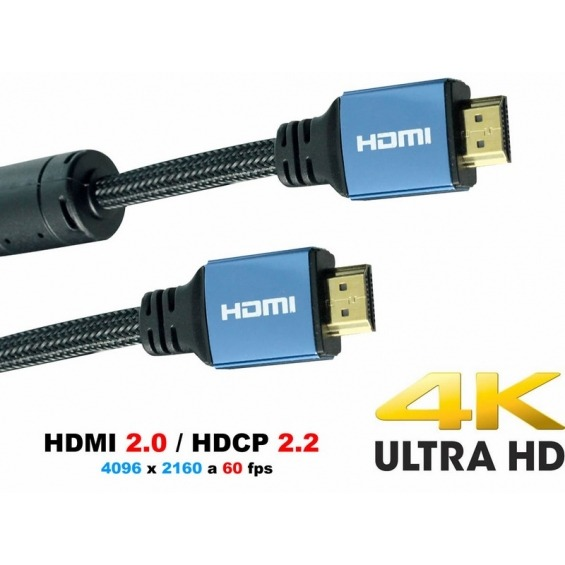 Super Cable HDMI versión 2.0 ultra HD - 0,7m