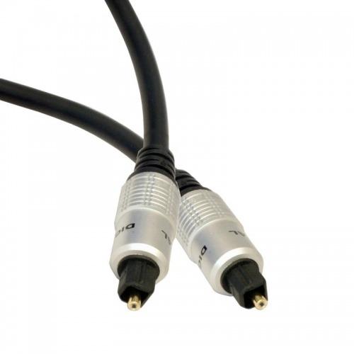 Cable óptico de audio con conectores Toslink de 10m