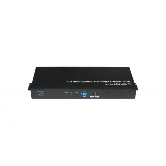 Emisor extender Splitter HDMI de 1 entrada a 8 salidas 50 Metros