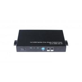 Emisor extender Splitter HDMI de 1 entrada a 4 salidas 50 Metros