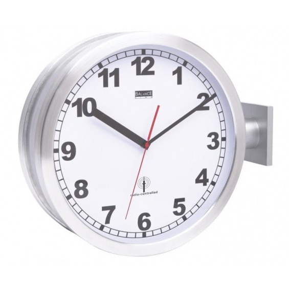 Balance Radio-controlled double-sided wall clock