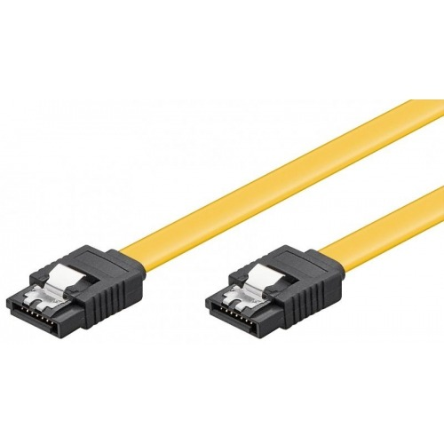 Cable datos SATA III 6Gb c/bloqueo Amarillo 1m