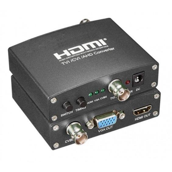 Conversor TVI/CVI/AHD a HDMI/VGA/CVBS