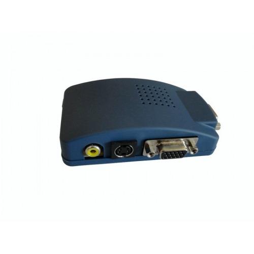 Conversor de Video Compuesto, E/RCA a VGA. Soporta displays con R/A 16x9, 16x10 y 4x3