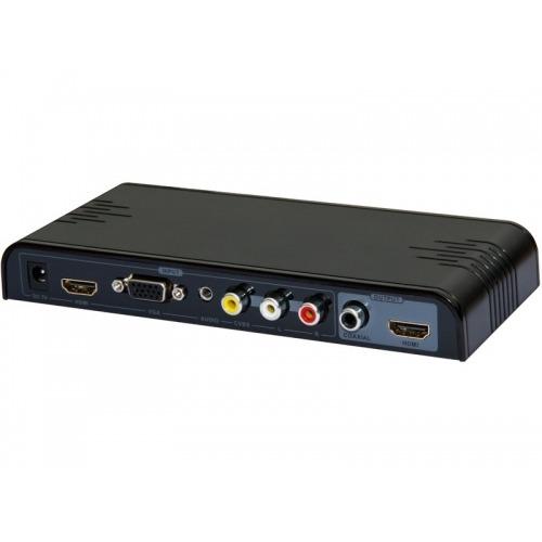 Multi conversor MHL,HDMI,VGA,AV y USB a HDMI + audio Coax