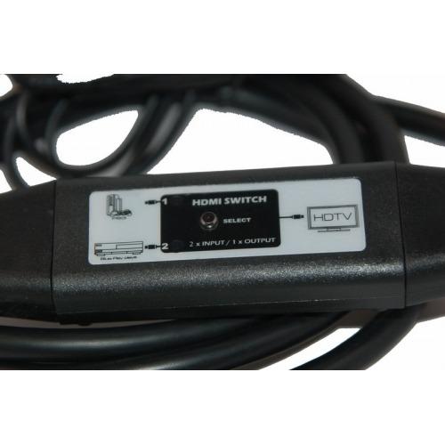 Conmutador en cable 1 x HDMI macho + 1 x HDMI hembra a HDMI macho