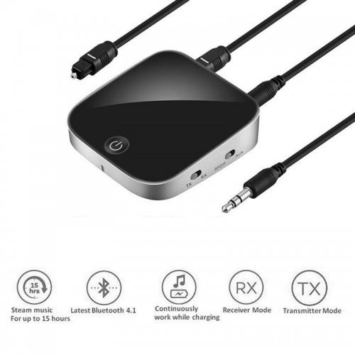 Transmisor y Receptor Bluetooth Toslink y MiniJack 3,5mm