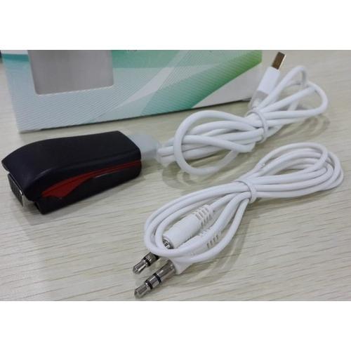 Miniconversor de HDMI a VGA con audio powered color Negro