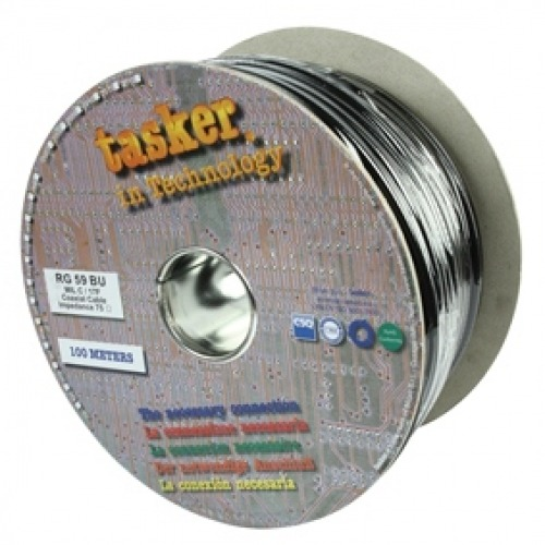 Cable coaxial profesional de 75 Ohm Tasker